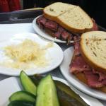 Eating at Katz's Deli NYC