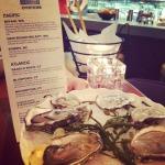 Eating at Rick Moonen Seafood LAS