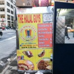 Eating at Halal Cart NYC