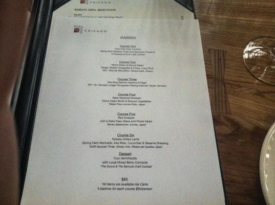 roka menu