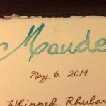 Eating at Maude LA