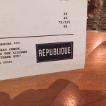 Eating at Republique LA
